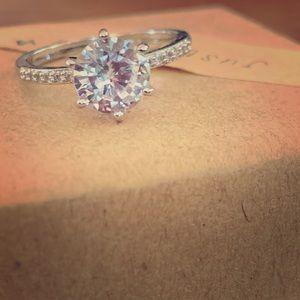 2.25 TCW Diamond Swarovski Size 8 Ring